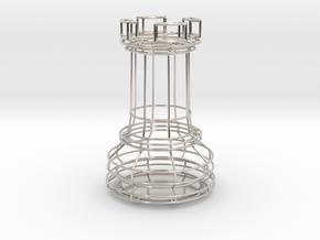 Chess Figure Rook in Platinum