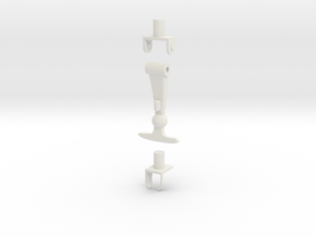 1/10 Scale Latch Set in White Natural Versatile Plastic