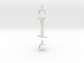 1/10 Scale Latch Set in White Natural Versatile Plastic