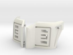 SCX10 Proline 2017 Style F250 Headlight Buckets in White Natural Versatile Plastic