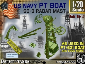 1/20 PT-631 SO-3 Radar Mast Set004 in Smooth Fine Detail Plastic