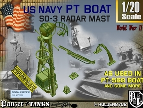 1/20 PT-588 SO-3 Radar Mast Set003 in Smooth Fine Detail Plastic