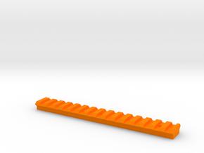 "Nerf Picatinny 6"" in Orange Processed Versatile Plastic"