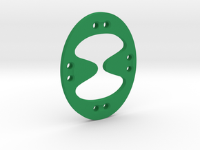 Tentatek Strap Holder Button Thing in Green Processed Versatile Plastic