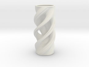 Vase 032318b in White Natural Versatile Plastic