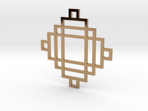 Grid 2 - Pendant in Polished Brass