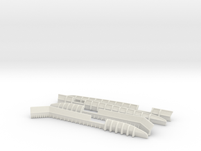 1/144 DKM Bismarck Wavebreaker Set in White Natural Versatile Plastic