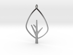 Tree - Pendant in Polished Silver