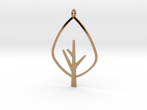 Tree - Pendant in Polished Brass