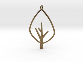 Tree - Pendant in Polished Bronze