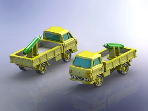 Mitsubishi Canter Truck w. Rocket Pod 1/285 in Smooth Fine Detail Plastic
