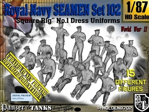 1/87 Royal Navy Seamen Set102 in Smooth Fine Detail Plastic