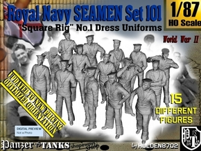 1/87 Royal Navy Seamen Set101 in Smooth Fine Detail Plastic