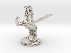 Wada Fu , The Flying Fighting Unicorn™ (small) in Platinum