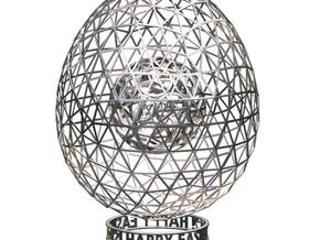 Easter 2012 Egg No.2  in White Strong & Flexible Polished