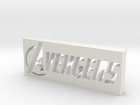 Avengers Logo in White Natural Versatile Plastic