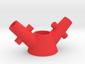 diamond_sail_servo_horn in Red Processed Versatile Plastic