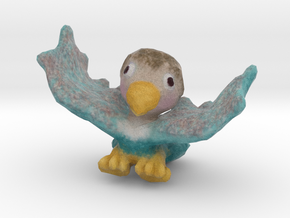 Baby Eaglet (wings up) in Full Color Sandstone