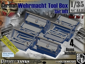 1/35 German WWII Tool Box Set001 in Smooth Fine Detail Plastic