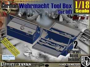 1/18 German WWII Tool Box Set001 in Smooth Fine Detail Plastic