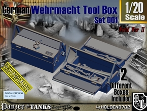 1/20 German WWII Tool Box Set001 in Smooth Fine Detail Plastic