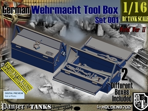 1/16 German WWII Tool Box Set001 in Smooth Fine Detail Plastic