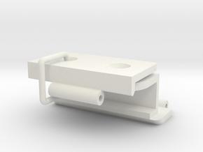Kastscharnier voor Constructam v03-COMPLEET in White Premium Versatile Plastic