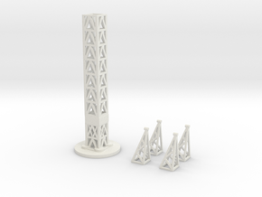 Power Line - Tower Kit  in White Natural Versatile Plastic