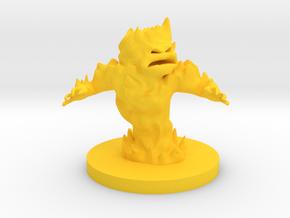 Fire Elemental Medium Sized in Yellow Processed Versatile Plastic