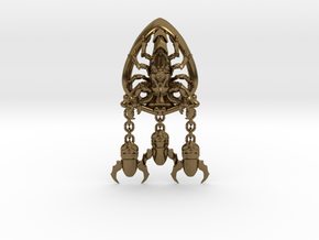 Skorpon Ace of Space Orden in Polished Bronze (Interlocking Parts)