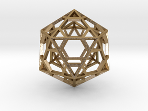 Icosahedron in Polished Gold Steel