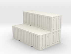Shipping Container - Cluster  in White Natural Versatile Plastic