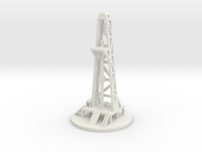 Oil Drill Tower in White Natural Versatile Plastic