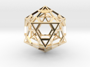 Icosahedron in 14k Gold Plated Brass