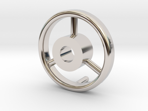 B15F Hand Wheel for Search Light in Rhodium Plated Brass