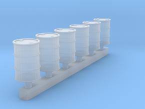 6 Ölfässer in Smooth Fine Detail Plastic