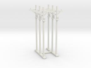 Telephone Poles Sprue  in White Natural Versatile Plastic