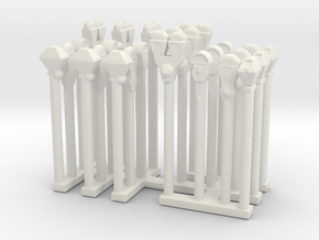 Parking Meters - Variation - Sprue  in White Natural Versatile Plastic