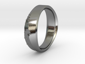 Crease Ring in Polished Silver
