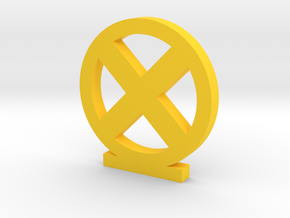 X-Men Logo in Yellow Processed Versatile Plastic