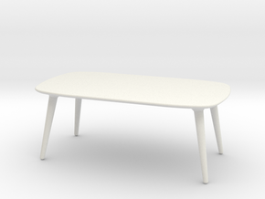 Miniature Icicle Table - Fredericia in White Natural Versatile Plastic: 1:12
