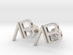Custom Logo Cufflinks in Platinum