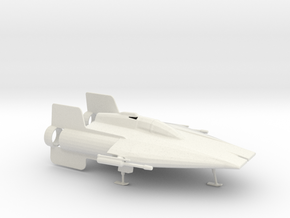 Printle Thing SW A-Wing - 1/24 in White Natural Versatile Plastic