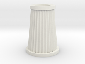 Cone Air Filter in White Natural Versatile Plastic