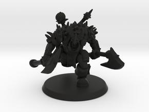 Orc Warlord in Black Natural Versatile Plastic