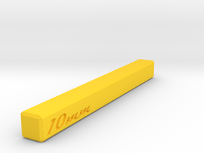 Wide 10mm Setup Block in Yellow Processed Versatile Plastic