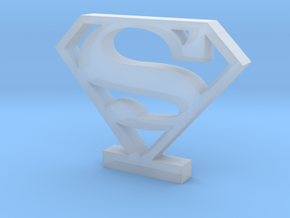 Superman Logo (Classic) in Smooth Fine Detail Plastic