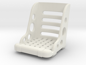 1/10 scale HOT ROD SEAT in White Natural Versatile Plastic
