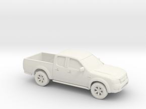 1/87 2009-12 Ford Ranger Crew Cab in White Natural Versatile Plastic