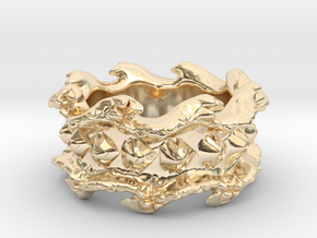 Ocean Wave Ring in 14K Yellow Gold: 10.5 / 62.75